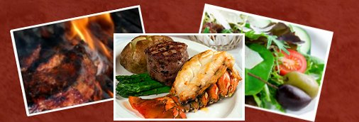 Steaks, Salads, Seafood